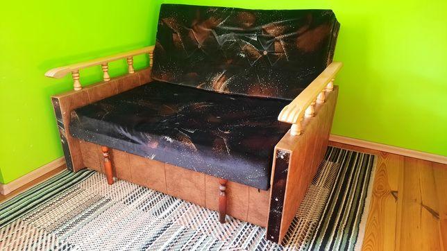 Fotel, kanapa amerykanka, czarna