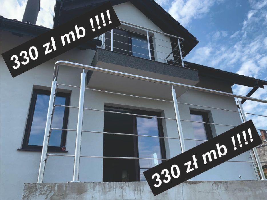Balustrady balkonowe schodowe klatka schodowa ze stali nierdzewnej 300 Dąbrowa Górnicza - image 1
