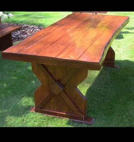 SOLIDNY stół ogrodowy DUŻY Meble Ogrodowe Ława Ławki Fotele ogrodu