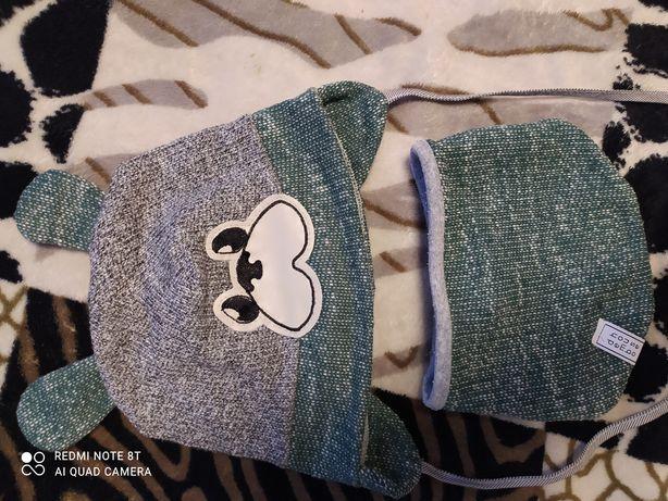 Шапка и шарфик на малыша до 2.5 года.