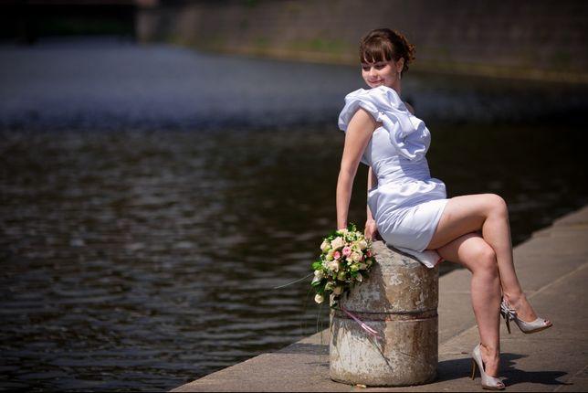 Свадебное платье короткое разм 42-48