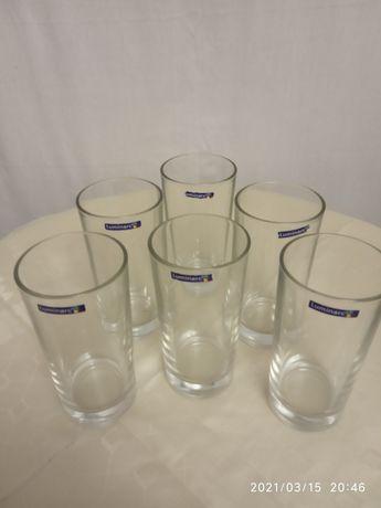 6 стаканов из стекла