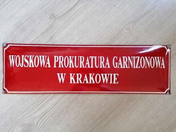 Unikatowa tablica emalia PRL