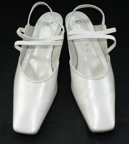 GABOR_cudne białe buty_ślub,wesele_jak nowe_roz.40