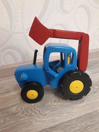 Синий Трактор большой. Синій Трактор великий. Игрушка Синий Трактор