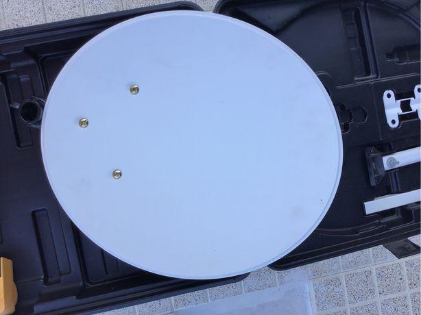 Mala c/ Antena parabolica portatil 40 cm perfeita  camioes ou campismo