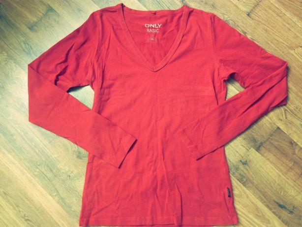 Czerwona bluzka z długim rękawem M