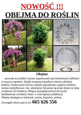 Obejma do roślin,(hortensji,piwonii, traw itp) podpora, ring