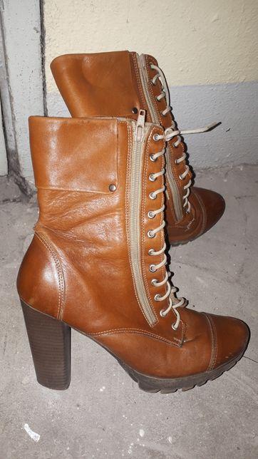 skórzane buty za kostkę r. 38