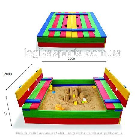 Песочница, песочница с крышкой, детская игровая площадка