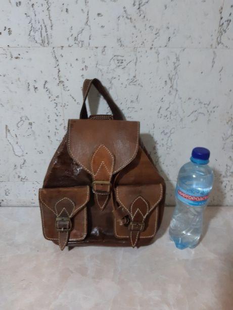 Сумка рюкзак кожаный