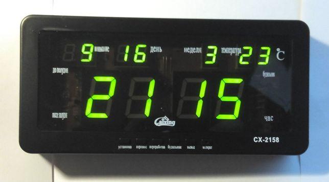 Часы электронные цифровые сетевые настенные настольные Caixing CX 2158