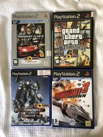Jogos Playstation 2 - GTA, Burnout3, Armored Core, Midnight Club