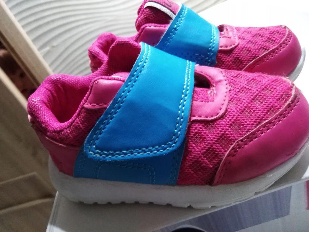 Buciki dla dziewczynki UGI fuksja/niebieski r.23 wkładka 14cm