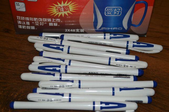 Ручка гелевая синяя 20 штук.