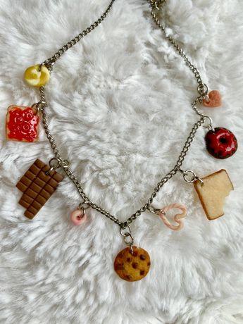 Naszyjnik ciasteczka -handmade