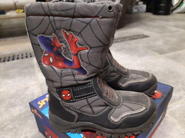 Buty kozaki dla chłopca rozm. 30 Spiderman