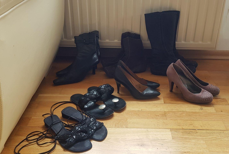 7par butów damskich za kawę