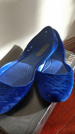 Sapato Melissa + Campana, Flocado, Tamanho 39