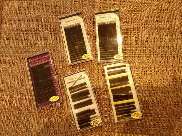 Набор ресниц для наращивания,накладные,чёрные,nagaraku