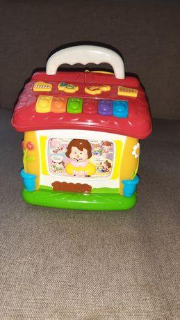 Логическая игрушка Домик,музыкальный домик