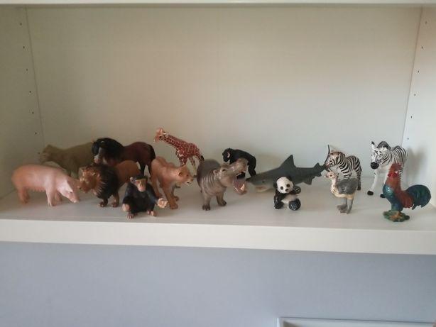 Zestaw 15 figurek zwierząt Schleich Shleich i inne