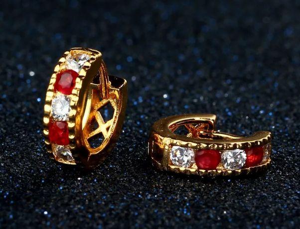 """""""Swarovski""""- złote (14k) kolczyki Swarovskiego w rewelacyjnej cenie;"""