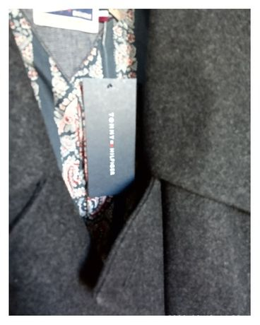 Стильное мужское шерстяное пальто от Tommy Hilfiger. ОРИГИНАЛ(см.фото)