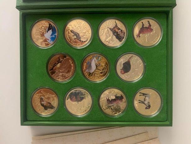 """""""Symbole przyrody"""" komplet 11 numizmatów platerowane"""