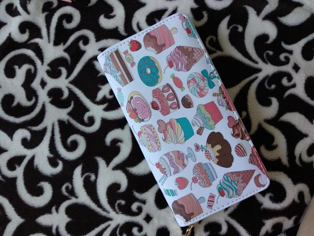 кошелек женский с фламинго жіночий гаманець з принтом солодощі