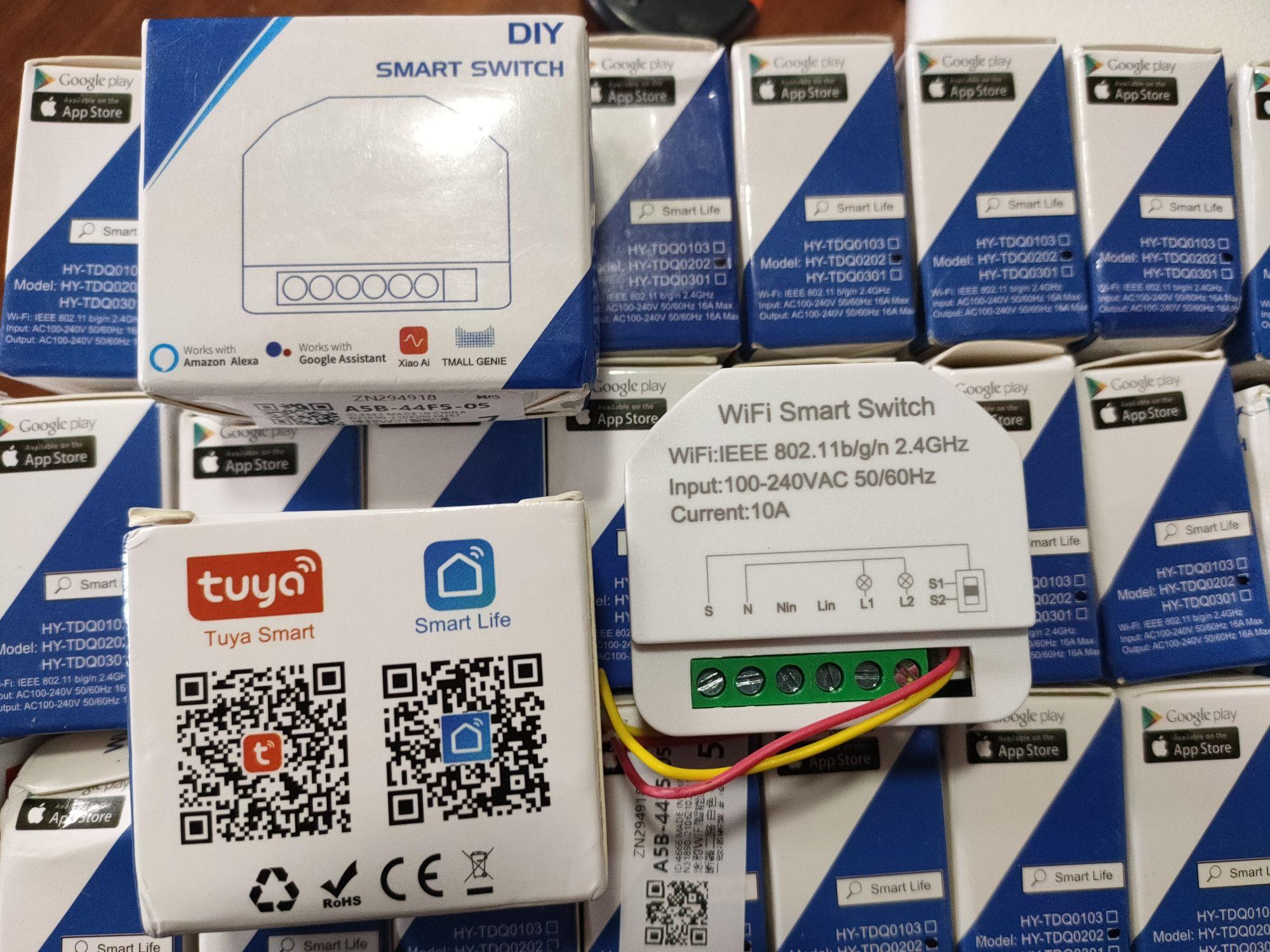 Módulo 2 relés Tuya Smart Home Casa Inteligente Alexa Google Assistant