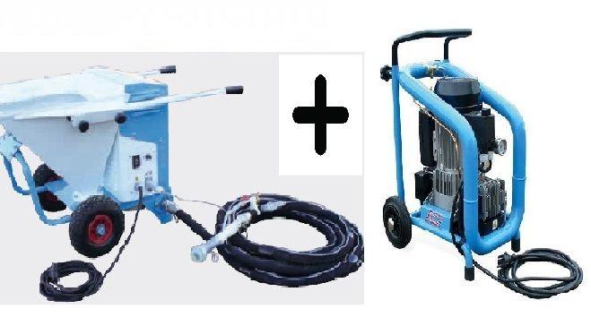 Aluguer máquina de projetar reboco + compressor, a partir de Braga (Maximinos, Sé E Cividade) - imagem 1