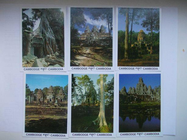 Почтовые открытки Камбоджа, 10 шт., набор 1