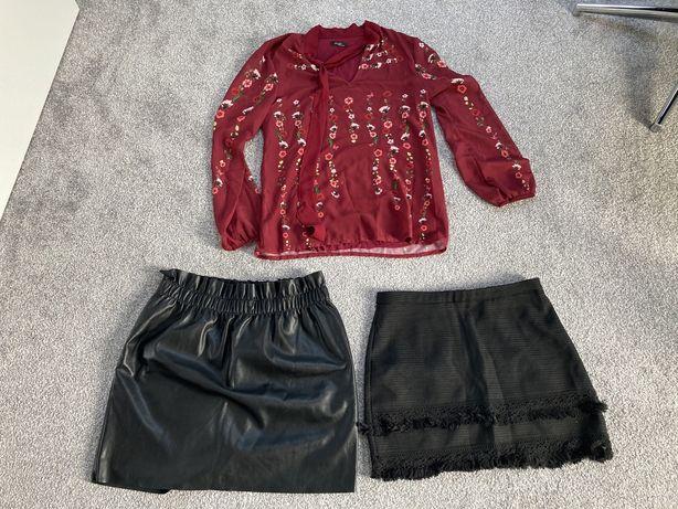 Komplet bluzka +2 spodnice  r.S/M