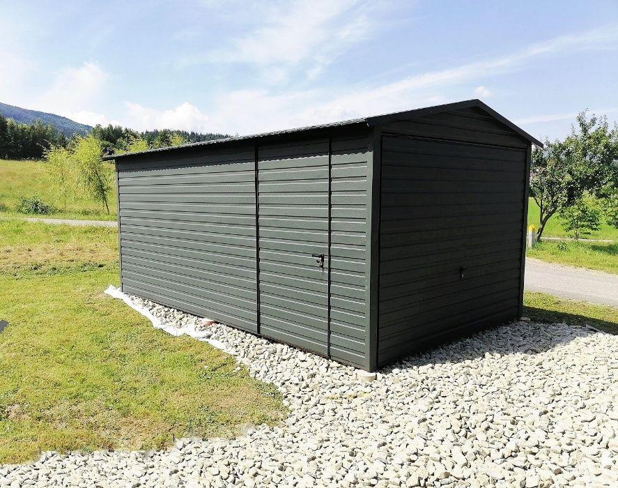 GARAŻE BLASZANE PREMIUM, garaż blaszany, schowek na budowę Toruń Płock Radom - image 1