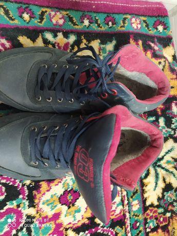 Кросівки шкіряні зимові