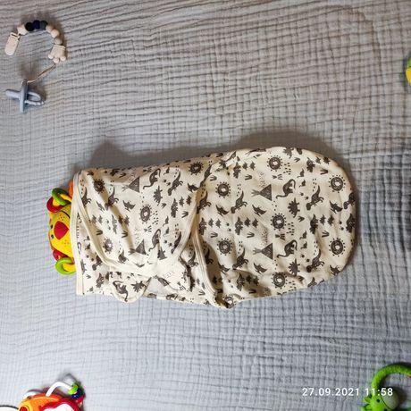 Пеленка кокон для новонародженого