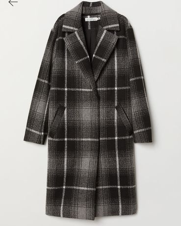 Płaszcz krata oversize h&m