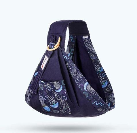 Слинг для новорожденных Black Owl Море синий