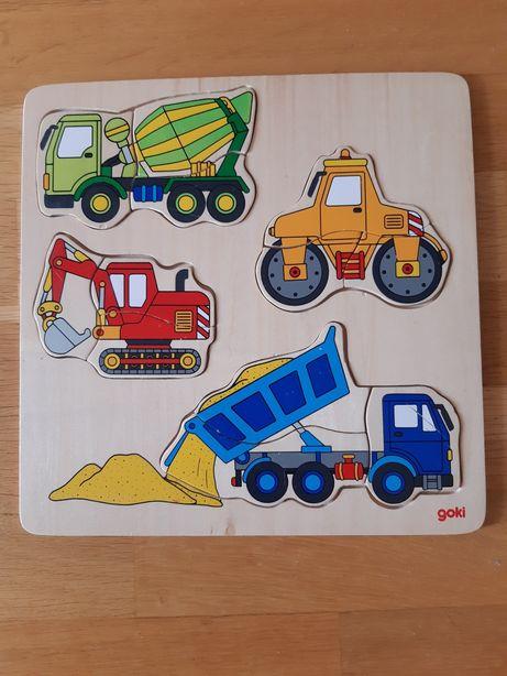 Puzzle drewniane układanka Goki