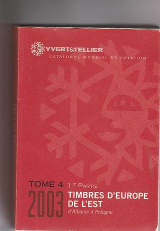 Catálogo usado Yvert & tellier - 2003 - Europa de Leste - Letras A a P