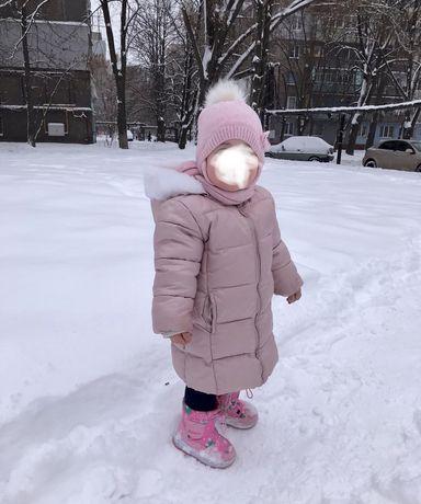 Куртка демисезонная зимняя chicco на девочку