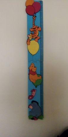 Régua de crescimento Winnie the pooh