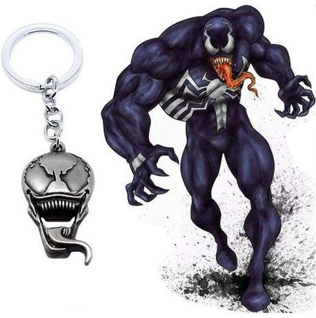 """Стальной Брелок """"Venom"""" фильмы веном человек паук DVD комиксы MARVEL!"""