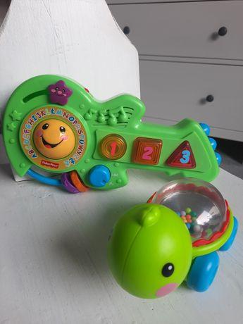 Zestaw zabawek Fisher price gitara i żółw