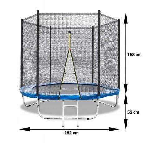 Батут большой внешняя сетка 252см диаметр 8ft FitNet детский батут