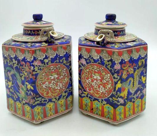 Dois bules c/tampa e coador - China 1960