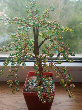 Дерево из бисера.Подарок