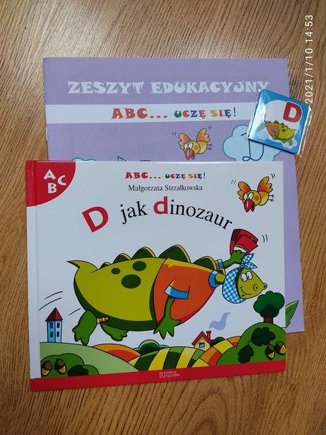 ABC uczę się, kolekcja Hachette, D jak Dinozaur