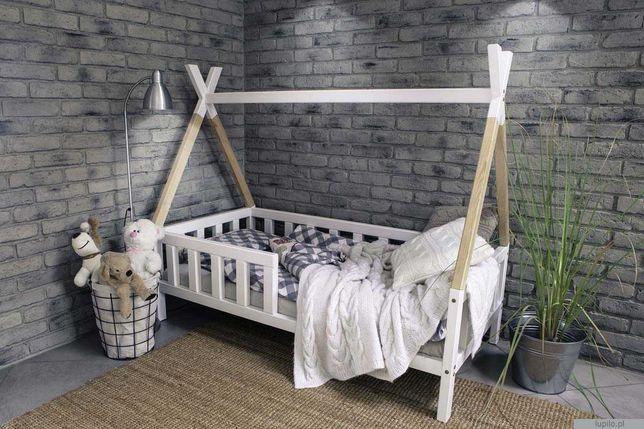 Łóżko dziecięce DOMEK VIKI z drabinkami